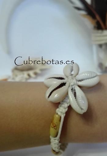 Pulsera conchas flor