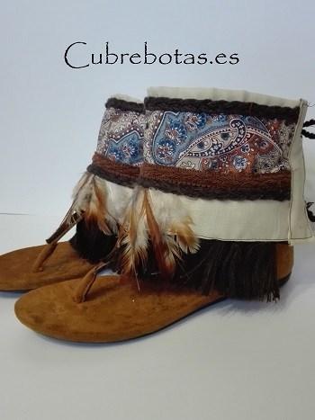botas etnicas plumas