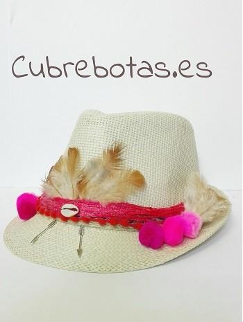 sombrero etnico rosa