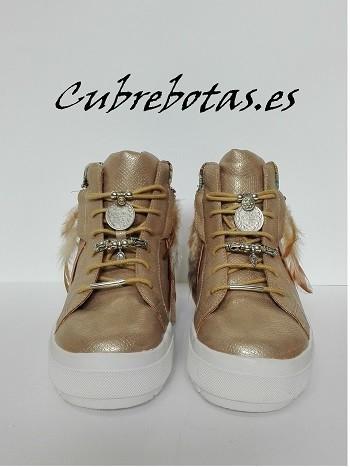 Botas Etnicas Sneakers Doradas turquesa