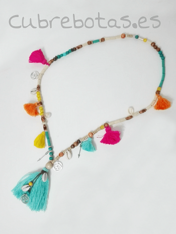 Collar boho Borlas Multicolor