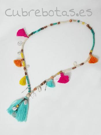 Collar boho Borlas Multicolor
