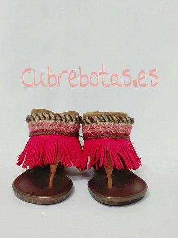 Cubrebotas boho rosa