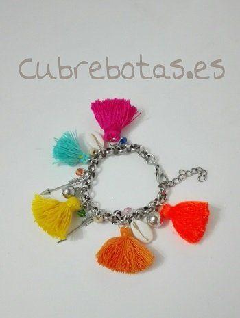 Pulsera boho borlas multicolor