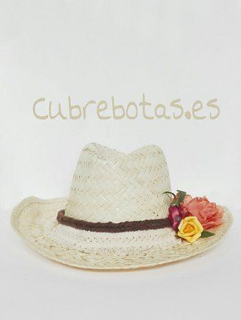 Sombrero Boho Flores Pastel