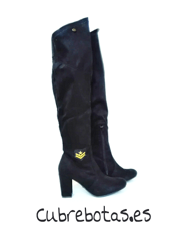 Botas Negras Golden Patch
